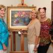Gerry Holland, Deborah Kersey, Cynde Roof were at the  29th Anniversary show and sale in Dodson Galleries. The event featured artwork by 25 artists from the 2012 Prix de West Invitational Event.  The exhibit will be in place through June 30th. (Photo by David Faytinger).