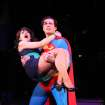 This undated image released by Helene Davis Public Relations shows Jenny Powers as Lois Lane, left, and Edward Watts  as Superman in Encore's