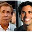 FILE - This photo combination of file photos shows casino mogul Steve Wynn, left, in Los Angeles, and
