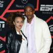 Actor Anthony Mackie, right, and Sheletta Chapital arrive at ESPN The Magazine's