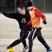 Dillon Noble, 14 of Edmond, (right) and Alex Jackson, 15, of Edmond, practice at soccer fields at Santa Fe and Danforth in Edmond on Monday, March. 1, 2010. Photo by John Clanton, The Oklahoman
