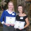 Oklahoma City University psychology students Stacie Abla (left) and Amy Simpson (right) won first place in an undergraduate research paper competition for their research on personal space.  Community Photo By:  Provided by OCU News Services  Submitted By:  Leslie, Oklahoma City