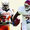 Former OSU running back Kendall Hunter and former OU running back DeMarco Murray. PHOTOS BY THE OKLAHOMAN