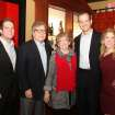 Mason, Ron and Lynn White, Mike and Melissa Brown celebrate the anniversary party for Lynn and Ron White at La Baguette Bistro. The Browns were hosts for the party honoring her parents. (Photo by David Faytinger).
