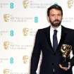American actor and director Ben Affleck with the award for Best Film for