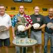 "The Gutter Dance IV charity-bowling event benefiting the J. D. McCarty Center's summer day camp scholarship fund was won by ""Out-of-Order"". The team members are (l-r) Bart Wharton, Kent Vig, Tim Howard and Payton Redick. Wharton and Vig have been on teams that have won three out of the four Gutter Dance events. A total of 23 teams made of 92 bowlers participated in this years Gutter Dance IV.  Community Photo By:  Greg Gaston  Submitted By:  Greg,"