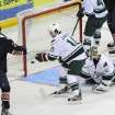 The Barons' Taylor Hall scored a goal in Sunday's game against Houston. Photo by Morris Molina, Houston Aeros
