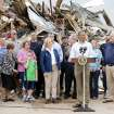 President Barack Obama speaks in front of Plaza Towers Elementary in Moore, Okla., on Sunday, May 26, 2013. Photo by Bryan Terry, The Oklahoman