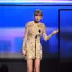 Taylor Swift accepts the award for favorite female artist - country at the 40th Annual American Music Awards on Sunday, Nov. 18, 2012, in Los Angeles. (Photo by John Shearer/Invision/AP)