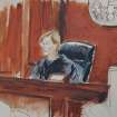 In this courtroom drawing, Judge Kathleen Forrest presides over the arraignment of accused terrorist Abu Hamza al-Masri in Manhattan federal court, Tuesday, Oct. 9, 2012, in New York. (AP Photo/ Elizabeth Williams)