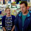 This image released by Warner Bros. Pictures shows Drew Barrymore, left, and Adam Sandler in a scene from the film,