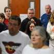 Family members and victims affected by the Aurora theater shooting arrive at court, Tuesday, Jan. 8, 2012, on the second day of hearings for accused gunman James Holmes, in Centenneial, Colo. (AP Photo/The Denver Post, RJ Sangosti) MAGS OUT; TV OUT; INTERNET OUT