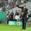 Bayern head coach Pep Guardiola of Spain reacts during the German soccer cup second round match between FC Bayern Munich and Hannover 96, in Munich, southern Germany, Wednesday, Sept. 25, 2013. (AP Photo/Kerstin Joensson)