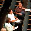Judges (top to bottom) Bradley Williams, Kevin Smith, Becky Ambrosini, and Christian Morren listen to prospects for Cimarron Circuit Opera in what's nicknamed
