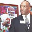 "Heisman Trophy winner Billy Sims says he will never quit saying, ""Boomer."" AP photo"