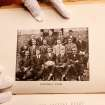Football players pose for a team photo. The cover and inside pages of the 1917 yearbook from Faver High School in Guthrie ,  Photos taken at the Oklahoma History Center on Wednesday,  Feb. 8, 2012.   Photo by Jim Beckel, The Oklahoman