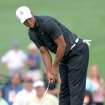 Tiger Woods misses a birdie putt on the 11th hole during The Barclays golf tournament at Bethpage State Park in Farmingdale, N.Y., Thursday, Aug. 23, 2012. (AP Photos/Henny Ray Abrams)