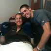 OU quarterback Trevor Knight, right, with his father George during George's treatment for cancer. PHOTO PROVIDED