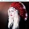 """This photo posted to Christina Fallin's Instragram account shows Fallin, the daughter of Oklahoma Gov. Mary Fallin, wearing a Native American headdress. Christina Fallin is defending herself after she posted the photo on social media sites. In a statement to The Associated Press, she says that with age, she feels a """"deeper and deeper connection to the Native American culture."""" (AP Photo)"""