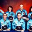 This 1986 file photo provided by NASA shows the crew of the space shuttle Challenger. From left are Ellison Onizuka, Mike Smith, Christa McAuliffe, Dick Scobee, Greg Jarvis, Ron McNair and Judith Resnik. (AP Photo/NASA)