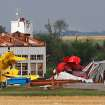 Upended small aircraft are strewed about this destroyed airplane hangar east of State Highway 74, east of Cashion, left that way by a tornado Tuesday afternoon   Photos by Jim Beckel, The Oklahoman
