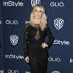Julianne Hough arrives at the 15th annual InStyle and Warner Bros. Golden Globes after party at the Beverly Hilton Hotel on Sunday, Jan. 12, 2014, in Beverly Hills, Calif. (Photo by Matt Sayles/Invision/AP)