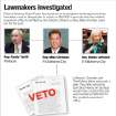 GRAPHIC: Lawmkers investigated: District Attorney David Prater has launched an investigation involving these three lawmakers and an alleged plan to creat an $80,000-a-year job with the medical examiner's office to be filled by Sen. Debbe Leftwich so Rep. Mike Christian could run for her seat. Leftwich, Christian and Terrill deny there was such a plan. Two bills vetoed by Gov. Brad Henry on Sunday would have created this job and transferred $90,000 to the medical examiner's office. WITH PHOTOS, FROM LEFT: 1) Oklahoma state Rep. Randy Terrill, R-Moore, asks a question during an Oklahoma House budget subcommittee meeting in Oklahoma City, Monday, April 26, 2010. (AP Photo/Sue Ogrocki)          2)  Mike Christian, Republican candidate for House District 93          3) State Sen. Debbe  Leftwich, D-Oklahoma City, speaks during debate on an override of an abortion bill on the Senate floor in Oklahoma City Tuesday, April 27, 2010. The Oklahoma Senate voted 36-12 to override Gov. Brad Henry's veto of two abortion bills. Photo by Paul B. Southerland, The Oklahoman