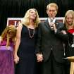 James Lankford, together with his daughters Jordan (left) Hannah (right) and his wife Cindy, prays with supporters during a watch party at the Oklahoma Sports Hall of Fame in Oklahoma City on Tuesday, August 24, 2010. Photo by John Clanton, The Oklahoman