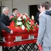 Friends, teammates and coaches of Austin Grant Box lift his casket into a waiting hearse following his funeral on Friday, May 27, 2011, at Emmanuel Baptist Church in Enid, Okla. Box, an outstanding athlete at Enid High School and a three-year letterman for the Oklahoma Sooners, passed away on May 19 in Oklahoma City. (AP Photo/ENID NEWS and EAGLE, Bonnie Vculek) ORG XMIT: OKENI101