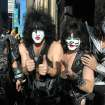 FILE - This  Oct. 11, 2012 file image released by Starpix shows, from left, Gene Simmons, Paul Stanley, Eric Singer, Tommy Thayer of KISS as the band arrives at SiriusXM offices to promote their latest release