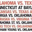 COLLEGE FOOTBALL / RANK / UNIVERSITY OF OKLAHOMA / OKLAHOMA STATE UNIVERSITY / OSU / RANKING OF THE BEST 2009 BIG 12 FOOTBALL GAMES graphic