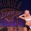 Jada dances during auditions for the OKC Thunder dance team, at Toby Keith's I Love this Bar and Grill, in Oklahoma City, Thursday, Sept. 11, 2008 BY MATT STRASEN, THE OKLAHOMAN.