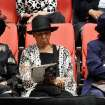 Three ladies at the service.  About 2,500 people celebrated the life and legacy of Oklahoma City civil rights pioneer Clara Mae Shepard Luper  during a lively service in the Cox Convention Center that lasted more than three hours, Friday,  June 17, 2011.  Luper died  last week at the age of 88. Photo by Jim Beckel, The Oklahoman