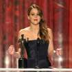 "Jennifer Lawrence accepts the award for outstanding female actor in a leading role for ""Silver Linings Playbook"" at the 19th Annual Screen Actors Guild Awards at the Shrine Auditorium in Los Angeles on Sunday Jan. 27, 2013. (Photo by John Shearer/Invision/AP)"