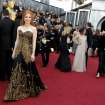 Jessica Chastain arrives before the 84th Academy Awards on Sunday, Feb. 26, 2012, in the Hollywood section of Los Angeles. (AP Photo/Matt Sayles) ORG XMIT: OSC123