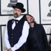 Krist Novoselic, left, and Dave Grohl arrive at the 56th annual Grammy Awards at Staples Center on Sunday, Jan. 26, 2014, in Los Angeles. (Photo by Jordan Strauss/Invision/AP)