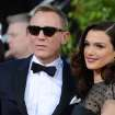 FILE - In this Jan. 13, 2013 file photo, Daniel Craig, left, and Rachel Weisz arrive at the 70th Annual Golden Globe Awards at the Beverly Hilton Hotel in Beverly Hills, Calif.   Craig and Weisz are to play an adulterous stage couple in a Broadway production of Harold Pinter's