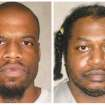 This photo combo of images provided by the Oklahoma Department of Corrections shows Clayton Lockett, left, and Charles Warner. Lockett and Warner, two death-row inmates who want to know the source of drugs that will be used to execute them, have placed OklahomaÂ's two highest courts at odds and prompted aggravated members of the Legislature to call for the impeachment of Oklahoma Supreme Court justices. (AP Photo/Oklahoma Department of Corrections)