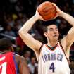 Oklahoma City's Nick Collison looks for an open teammate against Philadelphia's defense during the second half of their NBA basketball game at the Ford Center in Oklahoma City on Tuesday, Dec. 2, 2009. The Thunder beat the 76ers 117 to 106. By John Clanton, The Oklahoman