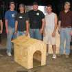 Members of the University of Oklahoma's Construction Students Association pose with their