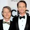 John Cameron Mitchell, left, and Neil Patrick Harris arrive at the 68th annual Tony Awards at Radio City Music Hall on Sunday, June 8, 2014, in New York. (Photo by Charles Sykes/Invision/AP)