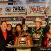 Kyle Busch fires the customary six-shooters after winning the NRA 500 at Texas Motor Speedway on Saturday night