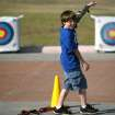 Matthew Kueteman critiques his own shots during an after school archery class at the at the Edmond Multipurpose Activity Center at Mitch Park in Edmond on Tuesday, Oct. 11, 2010. Photo by John Clanton, The Oklahoman