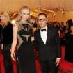 Taylor Swift and designer Gilles Mendel attend The Metropolitan Museum of Art's Costume Institute benefit celebrating