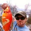 Daxton Neal, of Tulsa, was with friends on Grand Lake on April 13 and 14 when his minnow lure caught a two-half-pound goldfish. Photograph provided by Daxton Neal