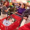 Shoppers attempt to navigate snaking lines and clogged aisles during Target's Black Friday sales event in Flint, Mich. on Thursday, Nov. 22, 2012. (AP Photo/Flint Journal, Griffin Moores)