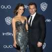 Kate Beckinsale, left, and Len Wiseman arrive at the 15th annual InStyle and Warner Bros. Golden Globes after party at the Beverly Hilton Hotel on Sunday, Jan. 12, 2014, in Beverly Hills, Calif. (Photo by Matt Sayles/Invision/AP)