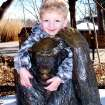 Austin Boyster hugging his buddy at the Oklahoma City Zoo.  Community Photo By:  Vicki Eckerd  Submitted By:  Vicki, Edmond