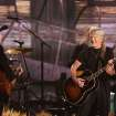 Willie Nelson, left, and Kris Kristofferson perform on stage at the 56th annual Grammy Awards at Staples Center on Sunday, Jan. 26, 2014, in Los Angeles. (Photo by Matt Sayles/Invision/AP)