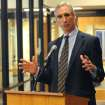 West Virginia athletic director Oliver Luck says the state has enormous pride in the Mountaineers.  Photo by Jason DeProspero, The Dominion Post
